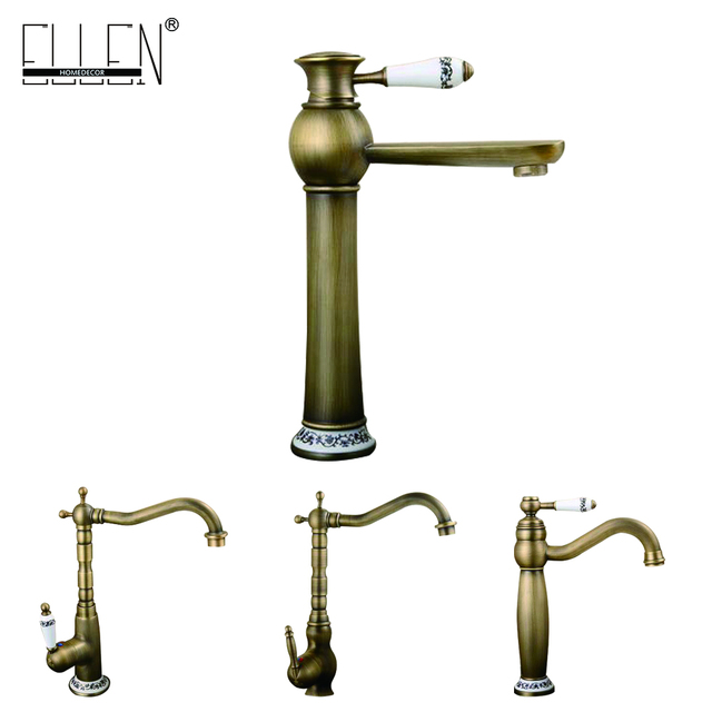 Antique Copper Faucet Rustic Bathroom Sink Tap Antique Brass Kitchen Faucets  Torneiras Para Pia De Banheiro