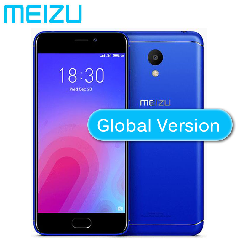 US $82 99 |Original Meizu M6 16GB ROM global firmware 4G LTE MEILAN 6  Mobile Phone 5 2 inch 3070mAh battery MTK6750 Octa core EU charger-in  Mobile