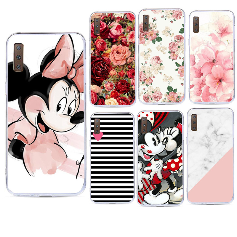 Flower Case For Samsung A7 J5 2017 Soft Silicon Phone Case For Samsung Galaxy Note 9 S8 S9 A8 Plus S7 Edge A7 2018 Fundas