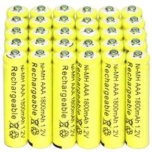 30x AAA батареи оптом никель кадмиевый аккумулятор 1800 mAh 1,2 V желтый
