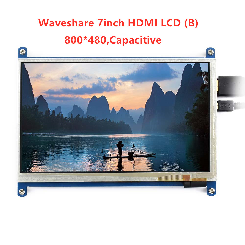 Image 2 - Waveshare7inch HDMI LCD (B) ,800*480, 7'' Capacitive Touch Screen,HDMI interface, for Raspberry Pi,Support Windows10/8.1/8/7-in LCD Monitors from Computer & Office