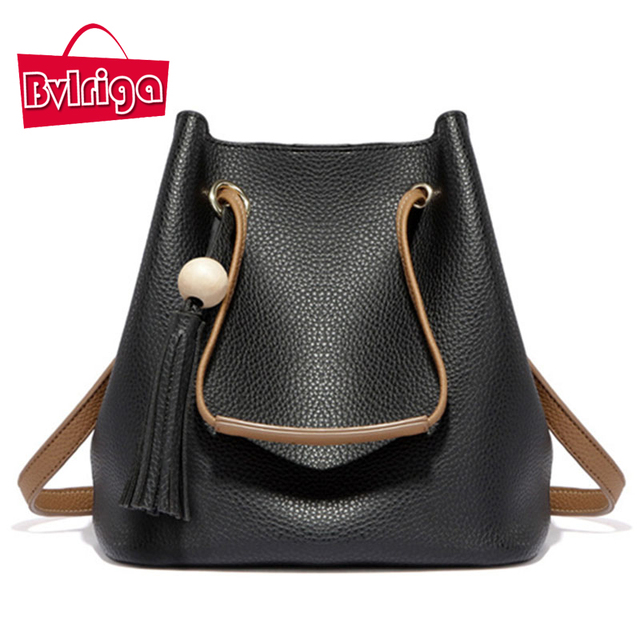 BVLRIGA Women messenger bags handbags women famous brands tassel shoulder bags fashion leather women bag casual top-handle bags