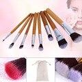 11pcs Bamboo Handle Brushes Set 15 Colors Concealer Palette Makeup Tools Cosmetic Set Blusher Eyeshadow Foundation Blending