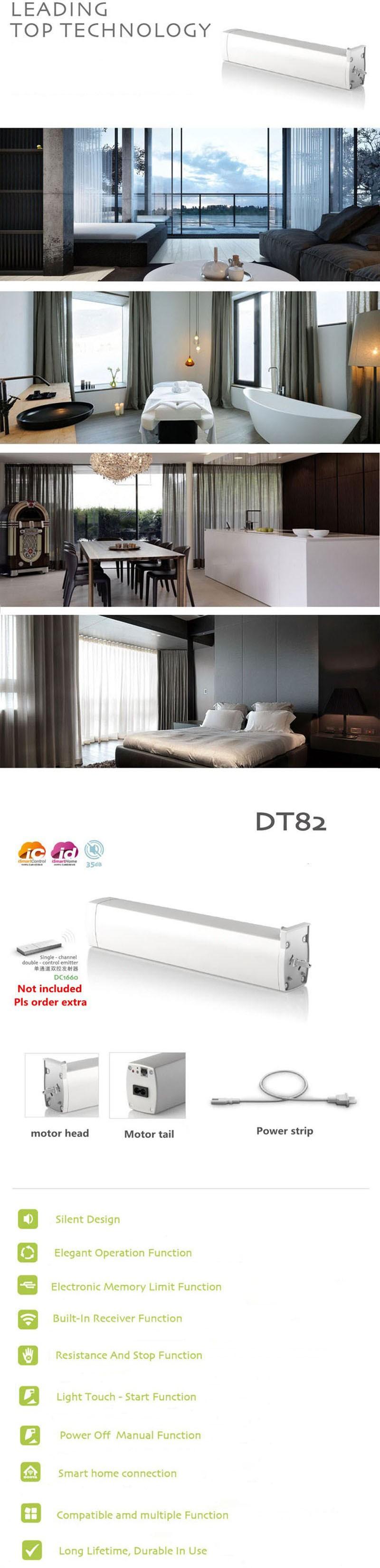 Original Dooya Electric Curtain Motor Smart Home Automation DT82TN Super quiet DC Curtain Motor