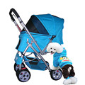 600D Oxford cloth Bidirectional implementation thicker Pet Stroller Waterproof Pet cart with Dormer