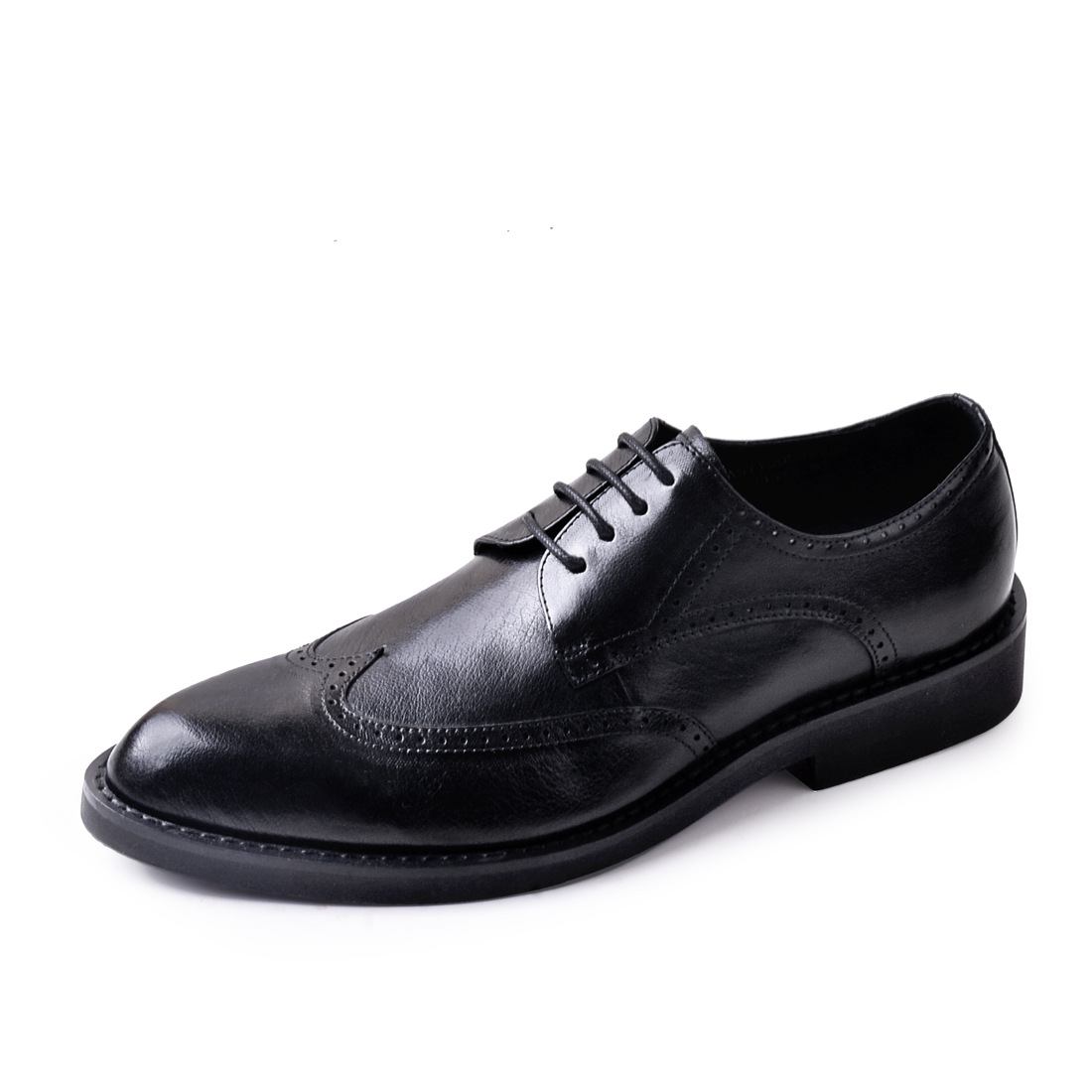 QYFCIOUFU 2019 Brogue Formal Shoes Men Cow Leather Dress Shoes Genuine Retro Pointed Toe Oxford Male Footwear Lace up US 11 5 in Formal Shoes from Shoes