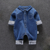 Hot Sale 2017 New Baby Clothes Overalls Children's Spring Autumn Denim Rompers Cute Christmas Newborn Boy Girl Clothes 0-18M