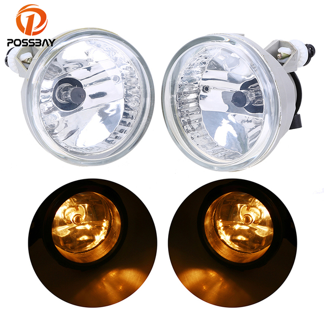 POSSBAY Car External Light for Toyota Echo 2003/2004/2005 Front Lower Bumper Fog Lights Assembly Car-styling Accessories
