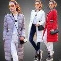 new 2016 winter jacket women solid color slim long winter coat women outerwear parka plus size women down jacket