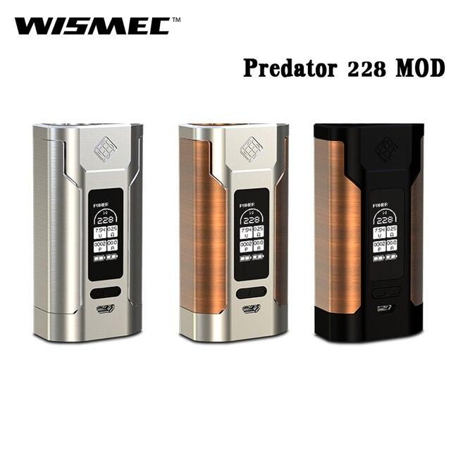 100% Оригинальные wismec Predator 228 электронная сигарета 228 Вт Predator 228 извилистые P228 поле mod VAPE Fit elabo Танк РБА RTA rdta