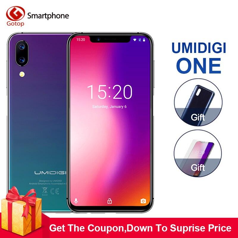 Umidigi один 5,9 fullsurface 4 ГБ 32 ROM Мобильного телефона Helio P23 Octa Core Android 8,1 12MP + 5MP двойная камера Быстрая зарядка сотового телефона