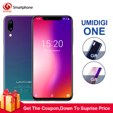 "Umidigi ONE 5.9""fullsurface 4GB 32 ROM Mobile phone Helio P23 Octa Core Android 8.1 12MP+5MP Dual Cam Fast charging Cell phone(China)"