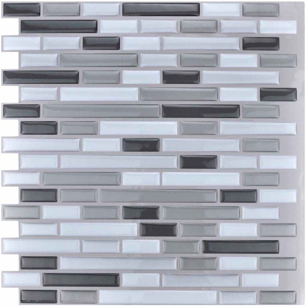 (6 gab.) 12''x12 '' Mizu un nūju flīzes Virtuves Backsplash flīzes - Mājas dekors