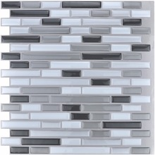 Peel and Stick Tiles Kitchen Backsplash Tiles 12''x12'' 3D Wall Stickers 6 Tiles/Pack Kitchen Wall Stickers(China)