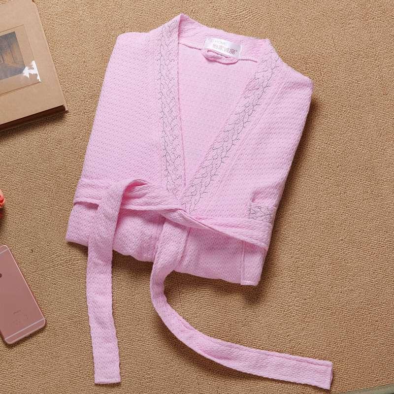 Женский халат, вафельный Халат из 100% хлопка, сексуальное мужское кимоно с длинным рукавом, халат для сна, ночная рубашка, халаты для влюбленн