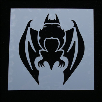 1 Pcs Cute Cartoon Halloween party bat Shaped Reusable Stencils DIY Home Decor Scrapbooking Airbrush Painting Album Crafts image