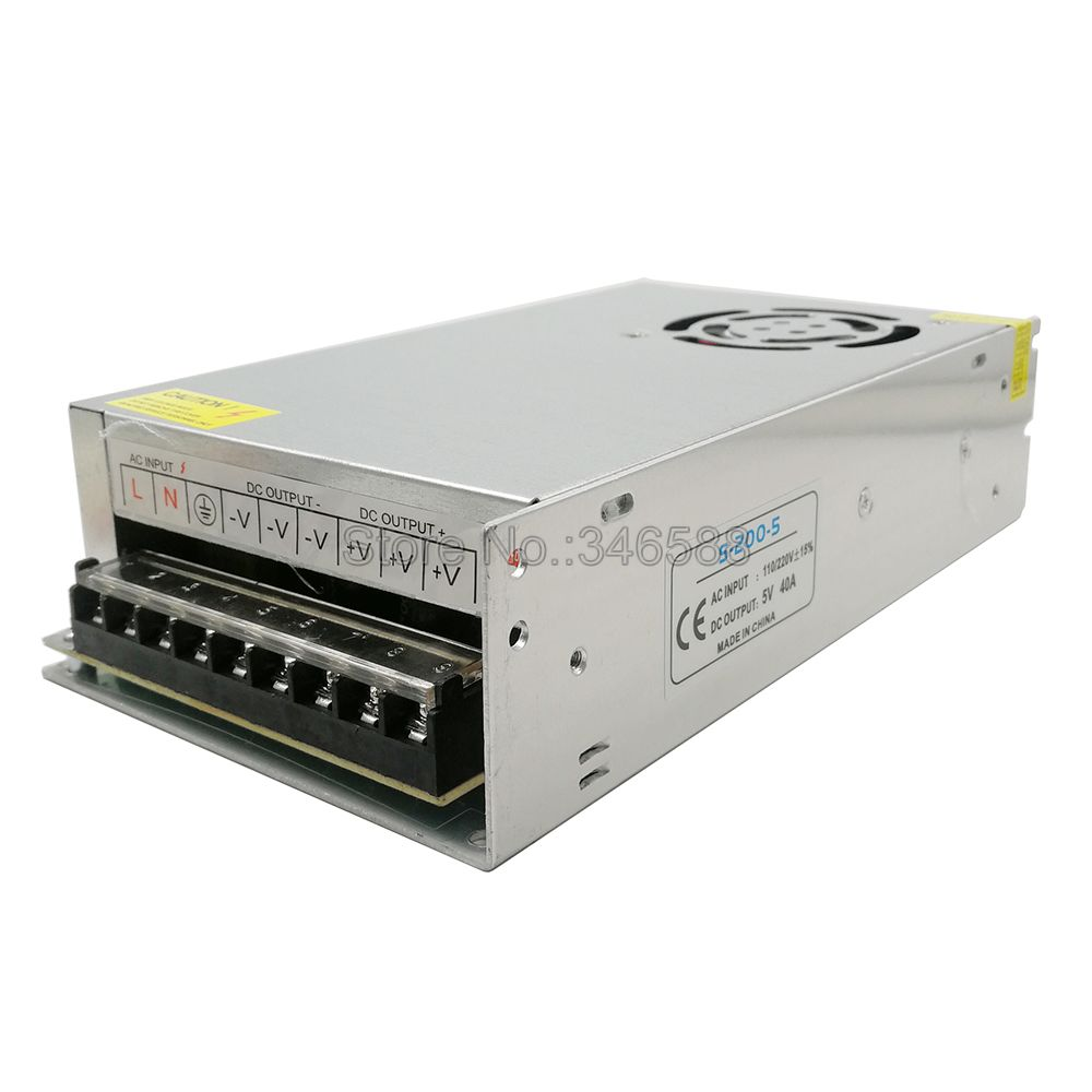 5V Regulated Switching Power Supply 5A 10A 20A 30A 40A 60A AC110V / 220V to DC5V Power Supply Unit 5 Volt Power Driver-4