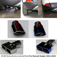 High Quality For Renault Kadjar 2016 Styling Muffler Exterior End Tail Pipe Dedicate Stainless Steel Exhaust