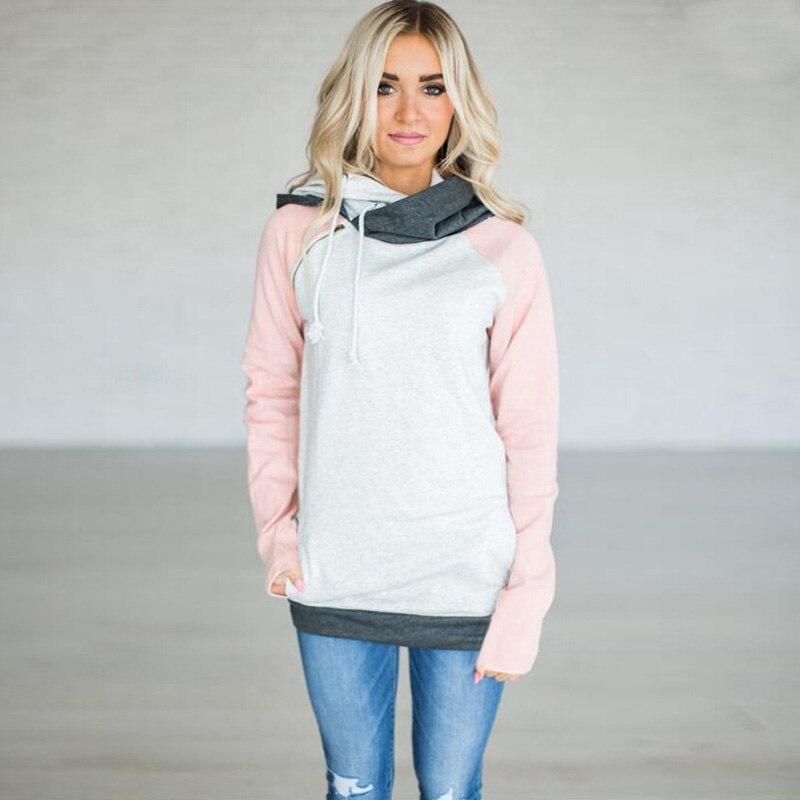elsvios 2017 double hood hoodies sweatshirt women autumn long sleeve side zipper hooded casual patchwork hoodies pullover femme ELSVIOS 2017  hoodies, Autumn Long Sleeve HTB1usyUeYwTMeJjSszfq6xbtFXau