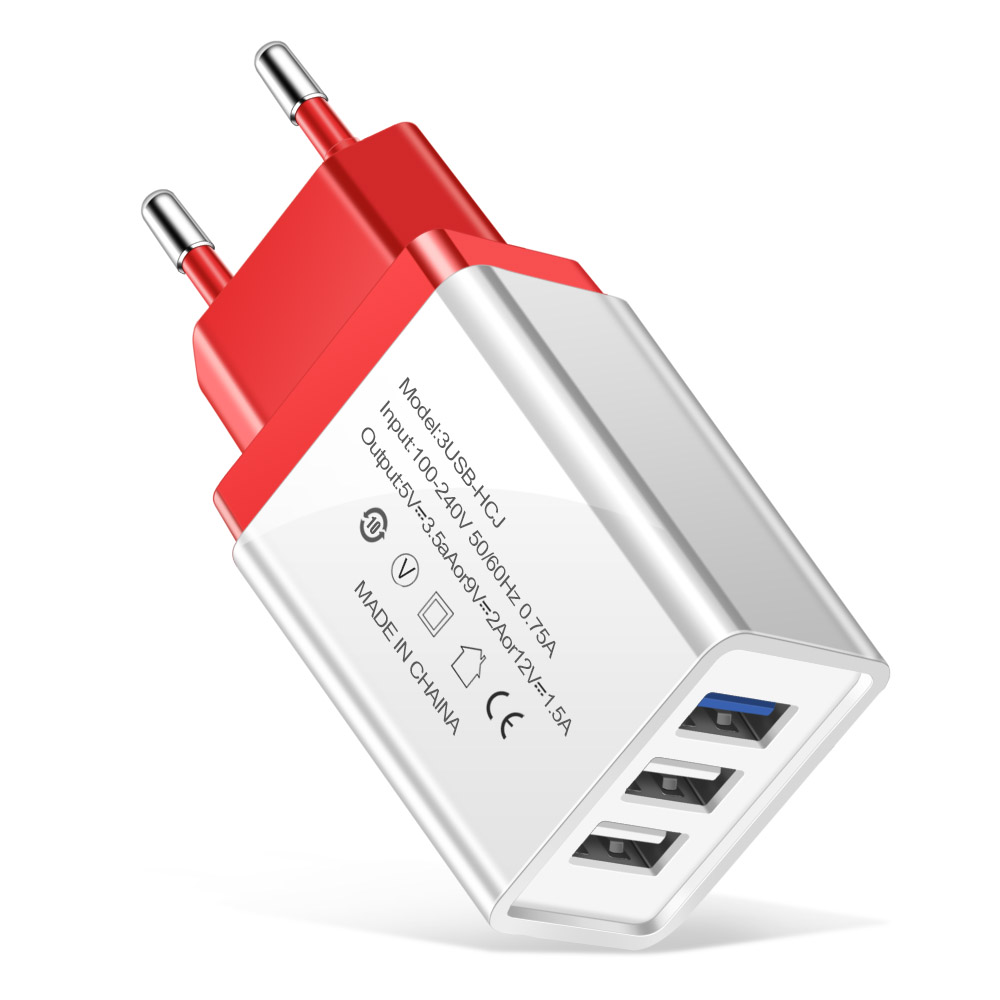 eu plug charger red