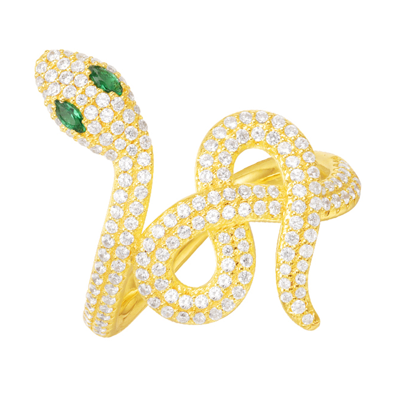 SKA Ring Women's Silver 925 Sterling Rings For Women AAA Zircon Golden Color Fashion Snake Shape Fine Finger Jewelry A15301XGY фрэнк синатра frank sinatra live at the meadowlands
