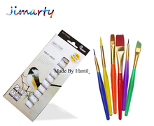 6ml*12color professional Textile Fabric Paint set Non Toxic Tube acrylic paint for artists with 6 paint brush cloth