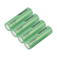 Soshine 4PCS IMR 18650 2600mAh 3.7V 9.62WH VTC5 60A Rechargeable Batteries Low Self discharge No Memory Effect