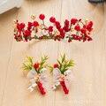 Handmade floral hairband hairgrips lovely hair ornaments charming wreath Christmas hair wear bridal marriage accessories  dl088