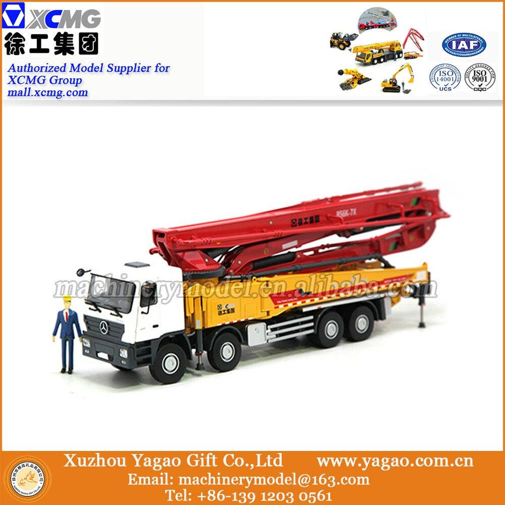 1:35 Scale Model, Diecast, Construction Model, XCMG HB56K Concrete Pump Truck Model, Zinc Alloy Replica green 1 24 scale foton lovol m2104 k tractor diecast model truck alloy toy m2104k