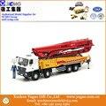 Modelo Em Escala 1:35, fundido, Modelo de construção, XCMG HB56K Modelo de Caminhão Bomba de Concreto, Réplica Da Liga do zinco