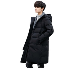 Cotton jacket men's mid length coat, personality trend 2018 new cotton clothes Winter Youth thickening cotton padded jacket
