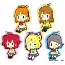 LoveLive! Sunshine mascote pingente de borracha aqours kunikida hanamaru ohara mari takami chika watanabe você telefone cinta chaveiro