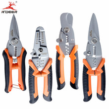 RDEER 7/8 Crimping Pliers Wire Stripper Multifunctional Scissor Cable Cutter Electrician Multi Tool