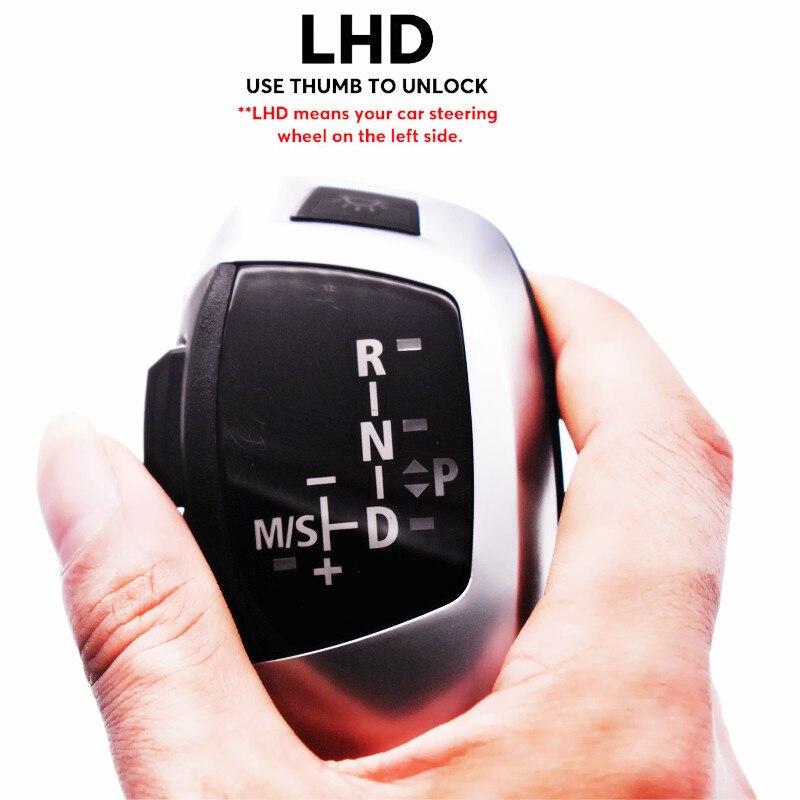 LED boutons de changement de vitesse couvercle levier de vitesse contrôle LHD pour BMW E39 E53 E46 E60 E61 E90 E92 E93 E87 poignée automatique noir
