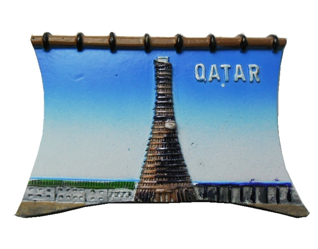 High Quality Handmade Painted Qatar 3D Fridge Magnets World Travel  Souvenirs Refrigerator Magnetic Stickers Home