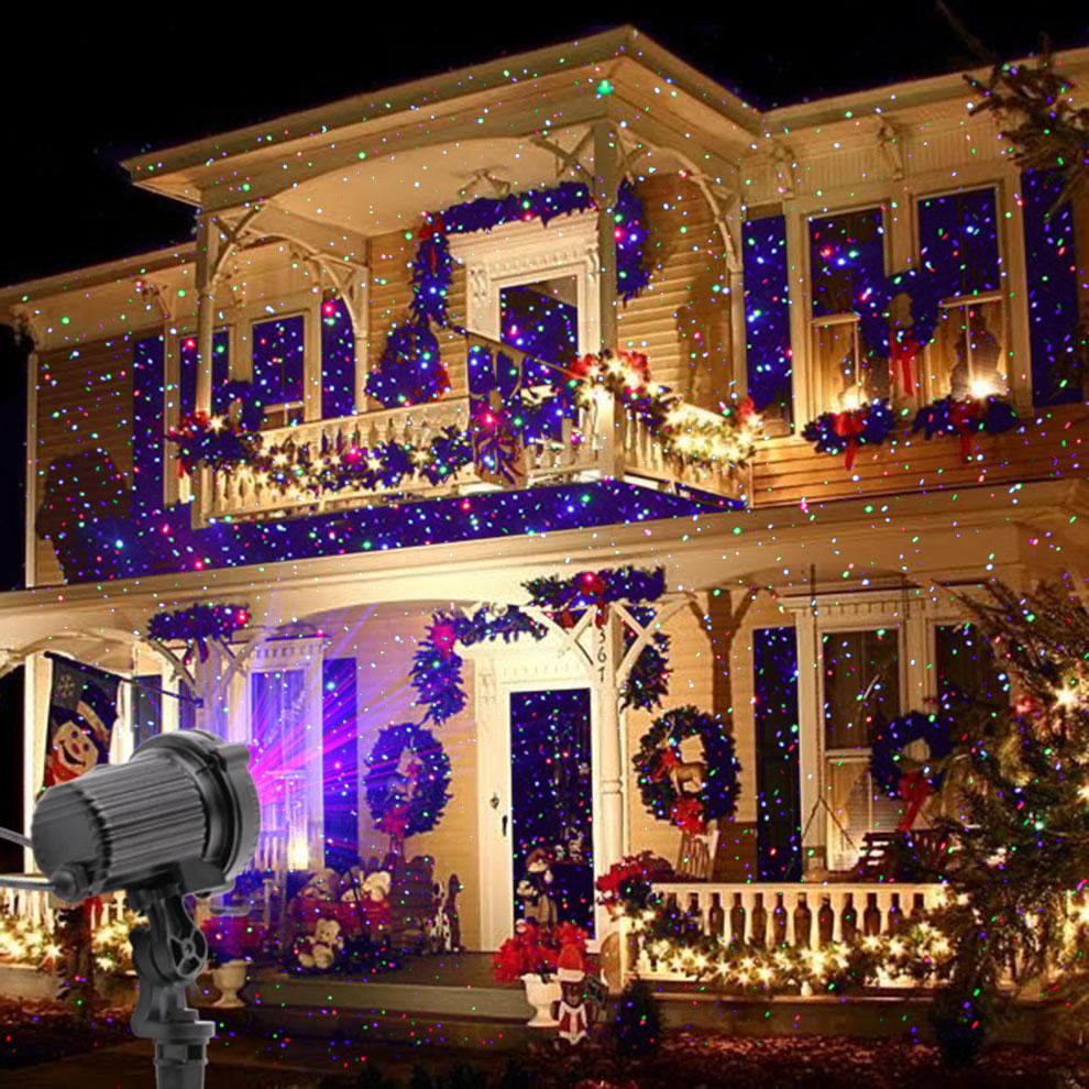 чужой дистанционного РГБ статический звезда точки лазерный проектор света сад открытый водонепроницаемый новогодние товары елка рождество праздник душ освещение