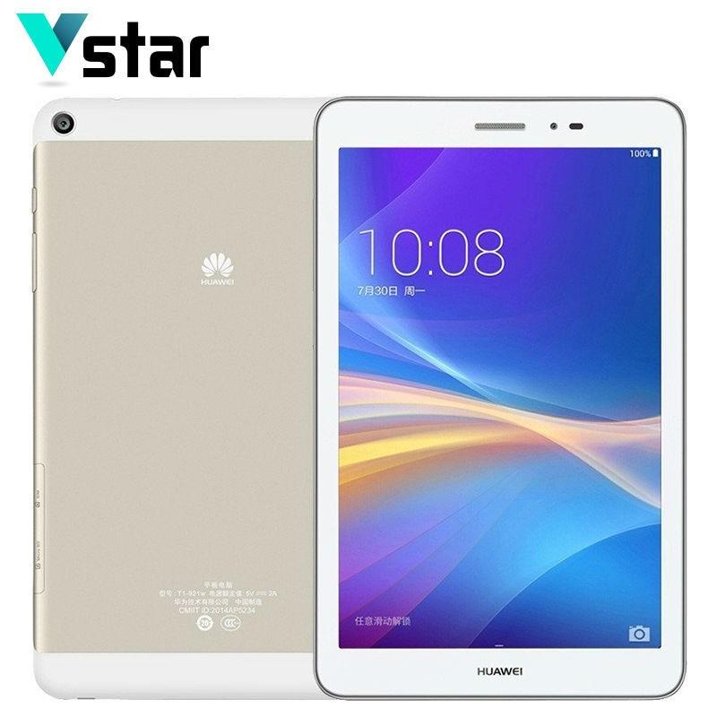 Original Huawei Honor Tablet 2GB RAM 16GB ROM 8 Inch Android 4.4 Snapdragon MSM8916 4800mAh quad core Back Camera Multi Language original 8 inch lenovo yoga tablet 3 yt3 850f qualcomm apq8009 quad core 2gb 16gb android 5 1 tablet pc 8mp rotation camera