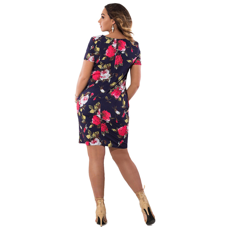 HTB1uszRXcPEK1JjSZFEq6yA3XXam 2019 Autumn Plus Size Dress Europe Female Fashion Printing Large Sizes Pencil Midi Dress Women's Big Size Clothing 6XL Vestidos