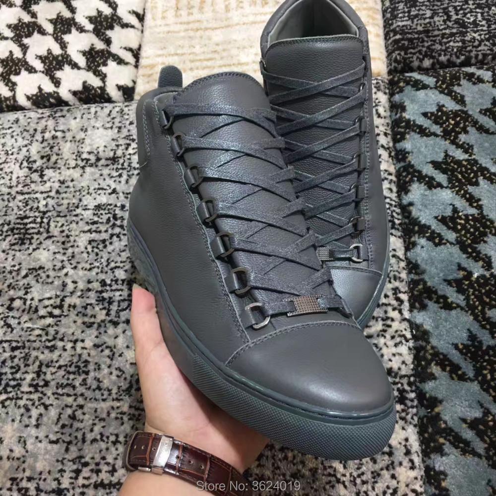 Man Lujo Deporte Cl Plana Oscuro Cuero Plano Gris Zapatillas Zapatos Calzado Casuales Mocasines Andgz Hombres Primavera Nuevo Altos Diseño Para De vqdw0av