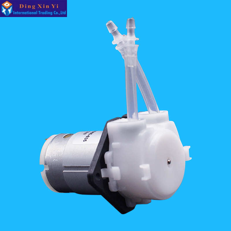 12V DC DIY Peristaltic Liquid Pump Dosing Pump for Aquarium Lab Analytical mini diy dosing pump peristaltic pump dosing head for aquarium lab analytical water pump with high flow l kamoer kds