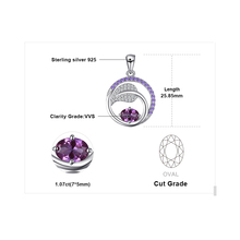 Sterling Silver Alexandrite Sapphire Pendant Necklace Jewelry