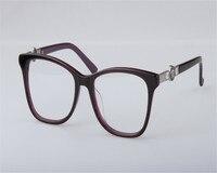 DOWER ME Women Fashion Retro New Acetate Full Rim Optical Eyeglasses Black Leopard Myopia Eyewear Frame