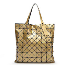 Famous Brand Bao Bao Woman Bags Plaid Fold Over Bags issey miyak Handbag Shopper Bag Fashion