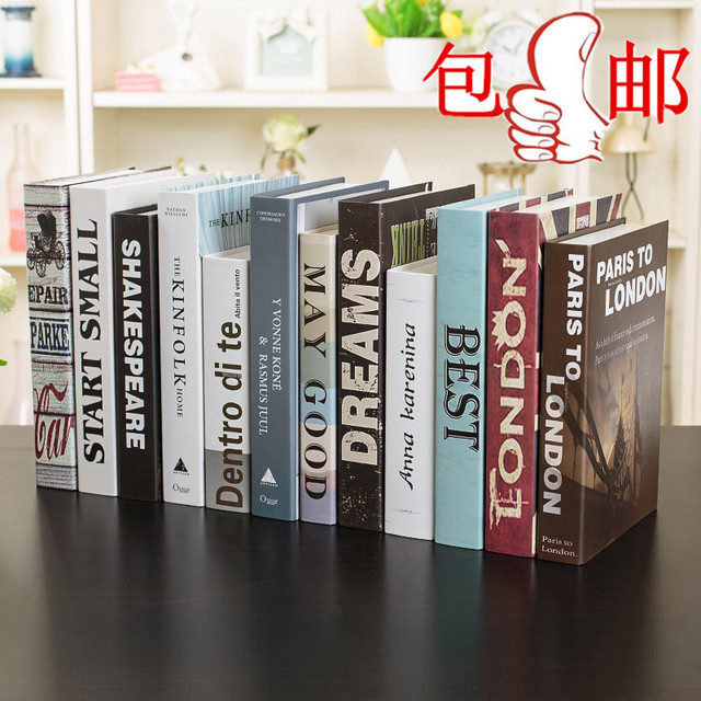 Lovely The Book Decoration Modern Minimalist Black And White Decorative Props Book  Book Restaurant Decoration Model Type Nice Look