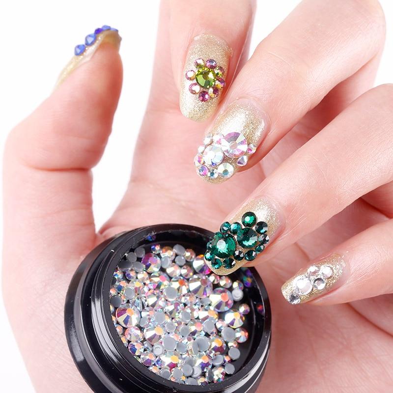 ③1Box 3D Glitter Rhinestones For Nail Art Decoration Shining ...
