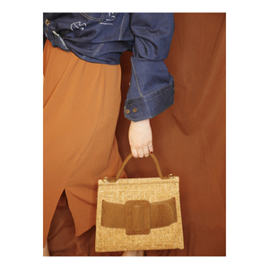 Image 3 - KAOGE Vegan Luxus Natürliche kork tasche Frauen Handgemachte Schulter Taschen Antifouling Handtasche Designer Taschen Damen Hand Tasche