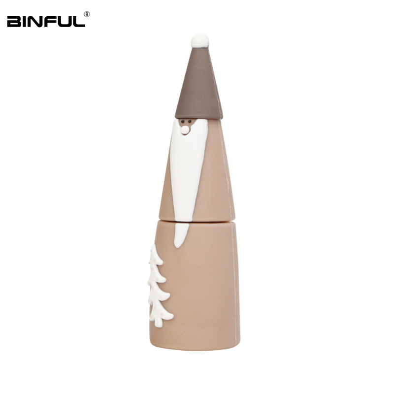 Hot Sale Christmas Gift Usb Flash Drive 32gb 64gb 128gb Lovely Cartoon Elk Pen Drive 16gb 8g 4g Usb2.0 Thumbdrives Free Shipping-in USB Flash Drives from Computer & Office