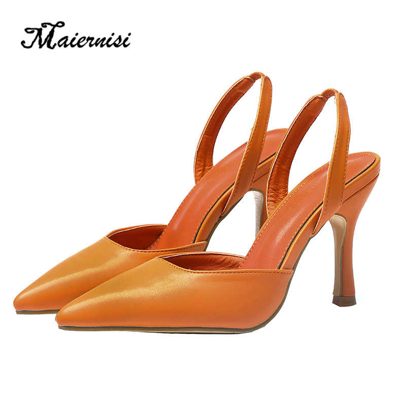 MAIERNISI Bayan Moda Stilettos Ayak Bileği Kayışı Topuklu Sandalet Elbise Parti Düğün Yüksek Topuklar Ayakkabı Sivri Burun Pompaları Artı Boyutu