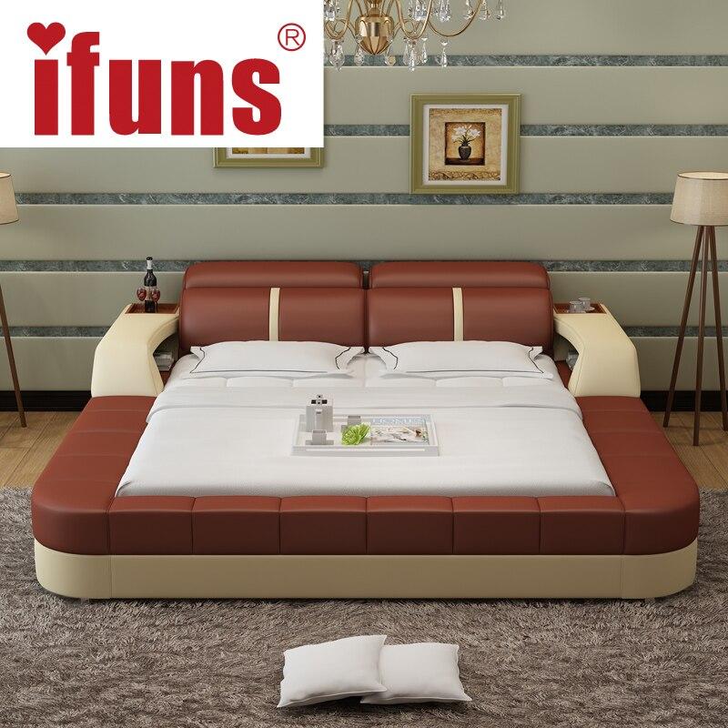 Nom Ifuns De Luxe Mobilier Chambre Moderne Conception Roi Et Reine Taille Véritable Lit