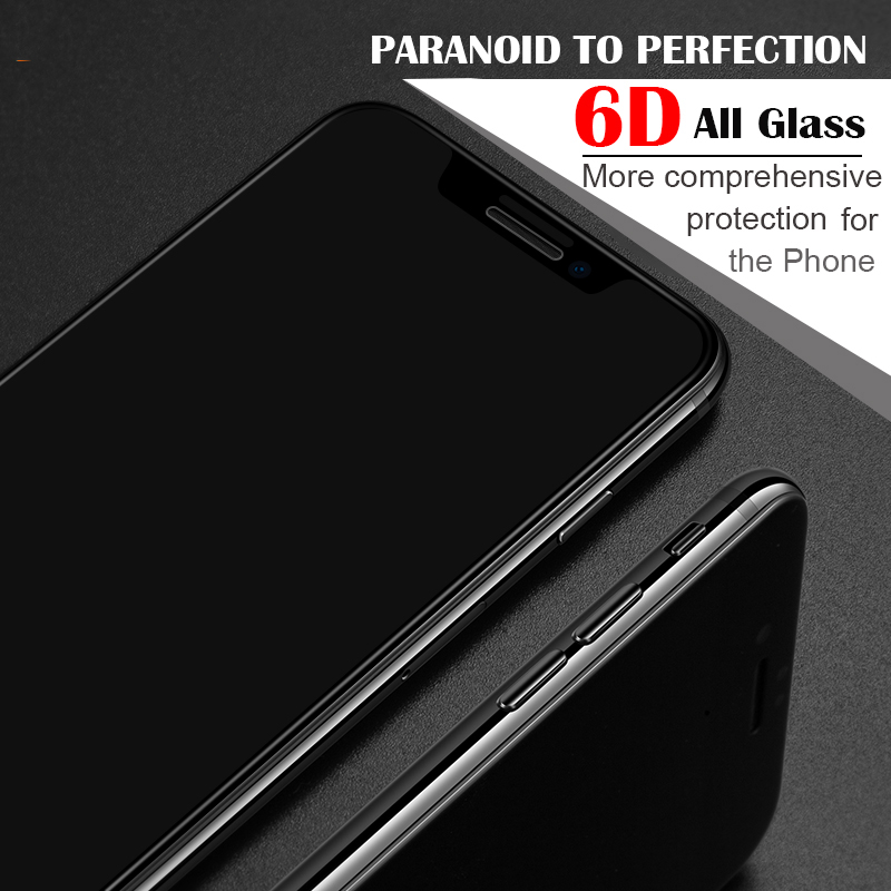 Image 4 - 6D protective glass for iPhone 6 6S 7 8 plus X glass on iphone 11 pro XR XS MAX screen protector iPhone 7 6 screen protection XR-in Phone Screen Protectors from Cellphones & Telecommunications